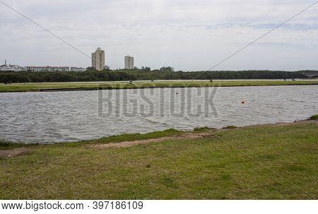 Umgeni River And Model Yacht Pond At Durban's Blue Lagoon