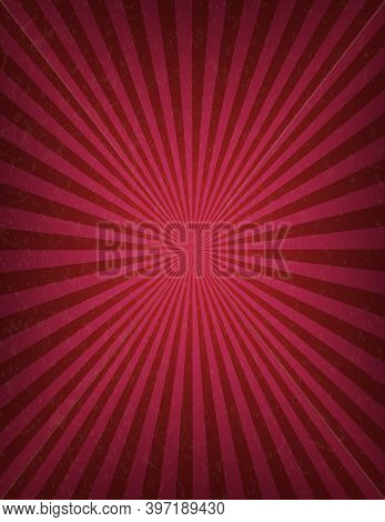 Circus Or Carnival Template Of Swirl Stripes Stock Banner. Old Texture Retro Cinema Sign. Background