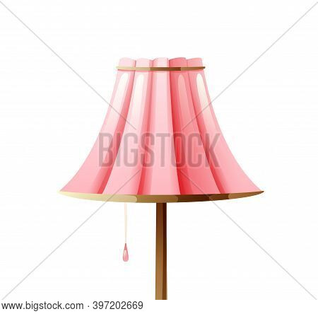 Cosy Floor Lamp With A Soft Pink Lampshade