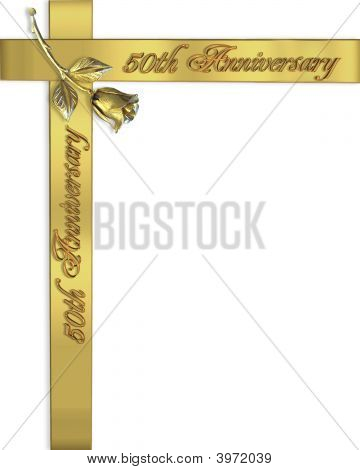 50Th  Anniversary Rose Invitation