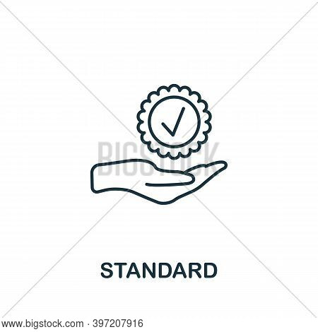 Standard Icon. Line Style Element From Audit Collection. Thin Standard Icon For Templates, Infograph