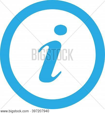 Information Icon Isolated On White Background , Request, Round, Search