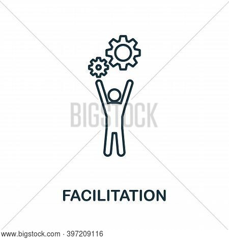 Facilitation Icon. Line Style Element From Agile Collection. Thin Facilitation Icon For Templates, I
