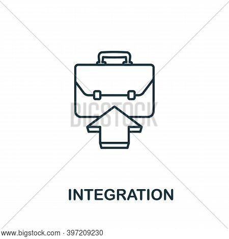 Integration Icon. Line Style Element From Agile Collection. Thin Integration Icon For Templates, Inf