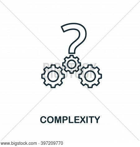 Complexity Icon. Line Style Element From Business Intelligence Collection. Thin Complexity Icon For