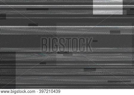Glitch effect texture on black background