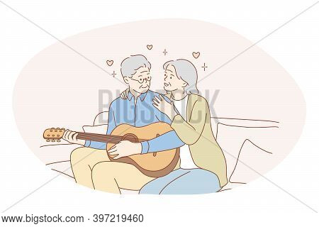 Senior Elderly Couple Living Happy Active Lifestyle Concept. Happy Mature Loving Couple Pensioners W