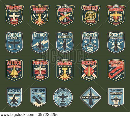 Army Chevrons, Vector Stripes For Fighter Squadron, Tactical, Heavy And Light Bomber Division, Anti-