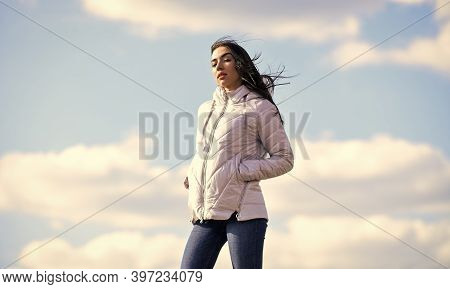 Freshness Of Wind. Matching Style And Class With Luxury And Comfort. Beauty And Fashion Look. Windy