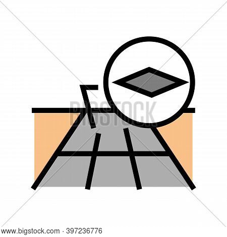 Concrete Slabs Road Color Icon Vector. Concrete Slabs Road Sign. Isolated Symbol Illustration