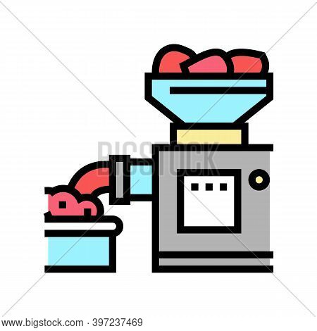 Grinding Meat Device Color Icon Vector. Grinding Meat Device Sign. Isolated Symbol Illustration