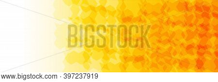 Yellow Honey. Horizontal Banner, Flyer With Stylish Modern Design And Copyspace For Advertising Or O