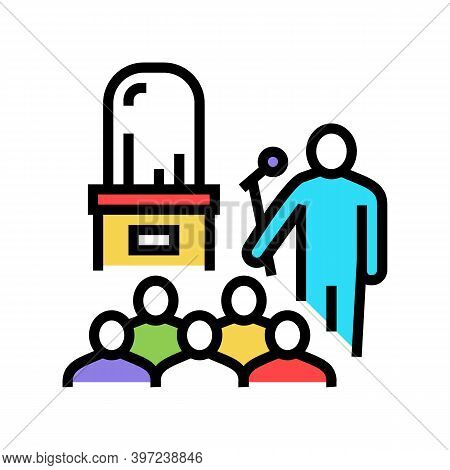 Jewelry Thing Presentation Introduction Color Icon Vector. Jewelry Thing Presentation Introduction S
