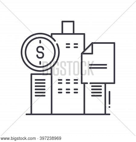 Government Bonds Icon, Linear Isolated Illustration, Thin Line Vector, Web Design Sign, Outline Conc