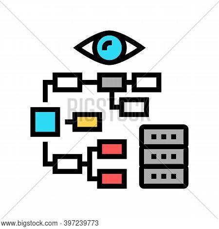 Problem Hierarchy Vision Color Icon Vector. Problem Hierarchy Vision Sign. Isolated Symbol Illustrat