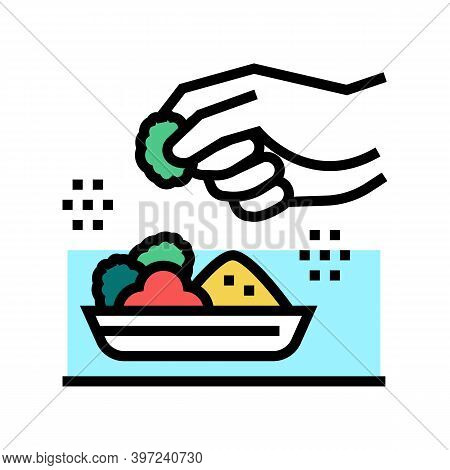 Flavoring Meal Color Icon Vector. Flavoring Meal Sign. Isolated Symbol Illustration