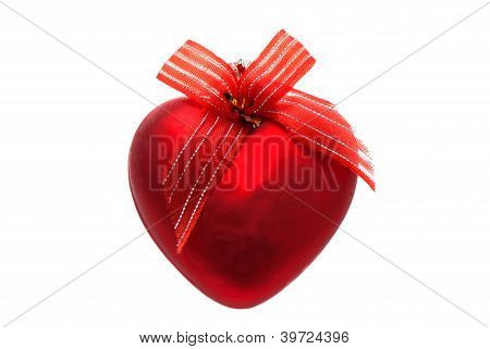 Christmas Toy Red Heart.
