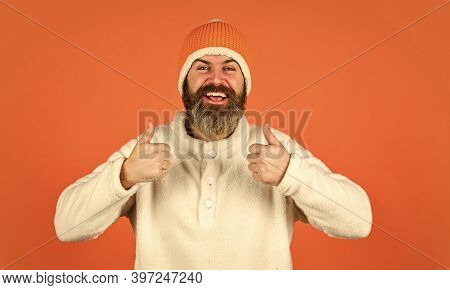 Feeling Good. Mature Emotional Hipster Funny Style Accessory. Bearded Hipster. Hipster Style. Head I