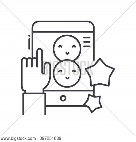 Impressions Rate Icon, Linear Isolated Illustration, Thin Line Vector, Web Design Sign, Outline Conc