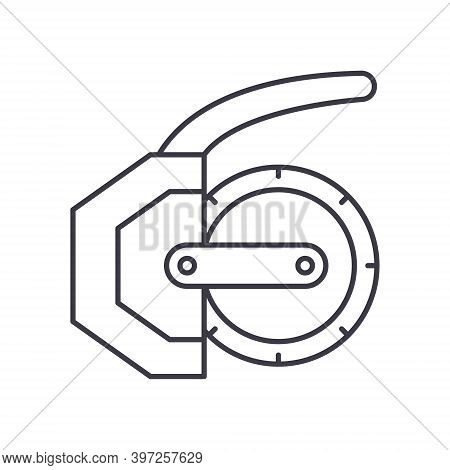 Industrial Rotor Element Icon, Linear Isolated Illustration, Thin Line Vector, Web Design Sign, Outl