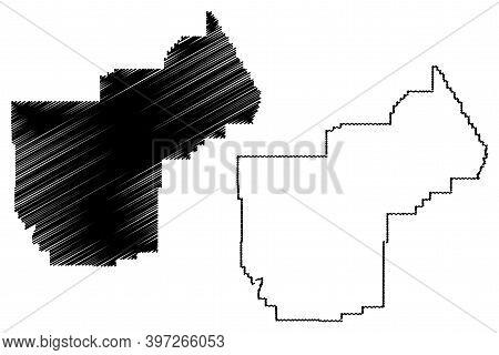 Yellowstone County, Montana (u.s. County, United States Of America, Usa, U.s., Us) Map Vector Illust