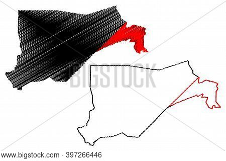 Eastern Equatoria State (states Of South Sudan, Equatoria Region) Map Vector Illustration, Scribble