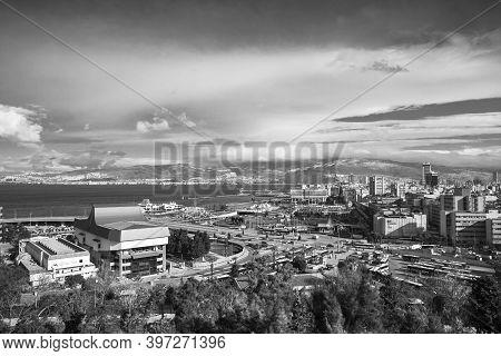 Izmir, Turkey - February 12, 2015: Izmir Cityscape, Modern And Old Houses Are On The Coast Of Izmir