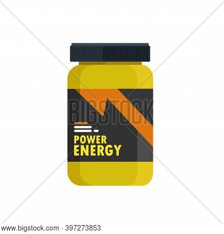 Protein Containers Isolated On White Background. Sport Food Supplements Concept. Supplements For Mus