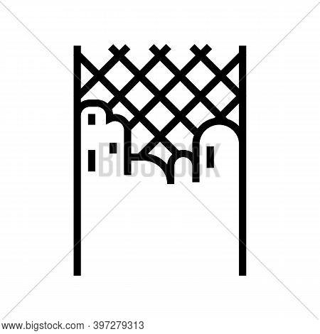 Concrete Layer Road Line Icon Vector. Concrete Layer Road Sign. Isolated Contour Symbol Black Illust