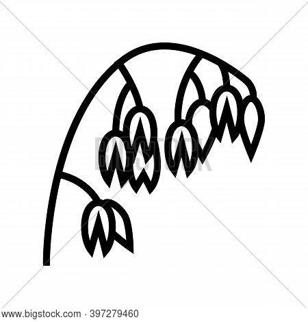 Ear Oatmeal Line Icon Vector. Ear Oatmeal Sign. Isolated Contour Symbol Black Illustration