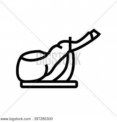 Ham Leg Meat Line Icon Vector. Ham Leg Meat Sign. Isolated Contour Symbol Black Illustration
