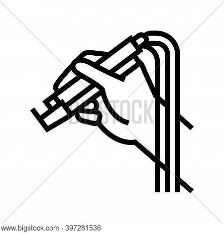 Dye Laser Line Icon Vector. Dye Laser Sign. Isolated Contour Symbol Black Illustration
