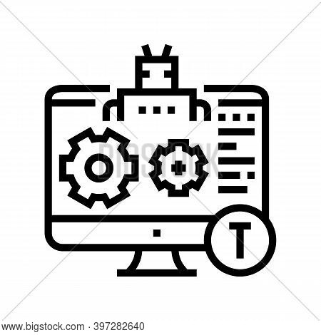 Automatical Repair Incident Line Icon Vector. Automatical Repair Incident Sign. Isolated Contour Sym