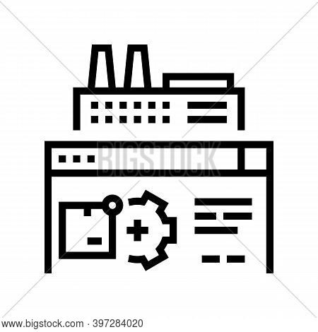 Factory Manufacturing Automation Line Icon Vector. Factory Manufacturing Automation Sign. Isolated C