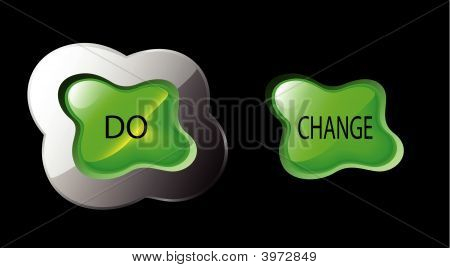 Vector Organic Form Button Do Change