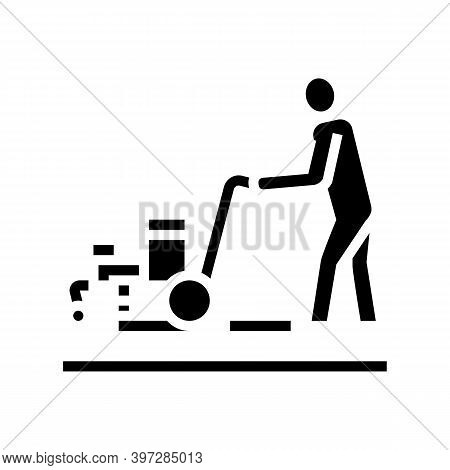 Marking Road Glyph Icon Vector. Marking Road Sign. Isolated Contour Symbol Black Illustration