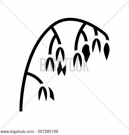 Ear Oatmeal Glyph Icon Vector. Ear Oatmeal Sign. Isolated Contour Symbol Black Illustration