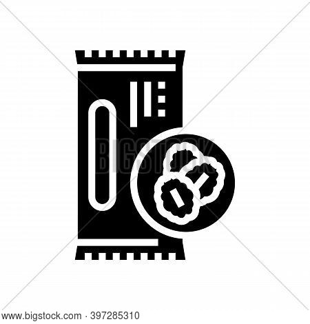 Cereal Bar Glyph Icon Vector. Cereal Bar Sign. Isolated Contour Symbol Black Illustration