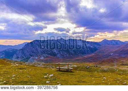 National mountains park Durmitor in Montenegro - nature travel background