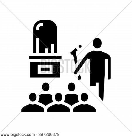 Jewelry Thing Presentation Introduction Glyph Icon Vector. Jewelry Thing Presentation Introduction S