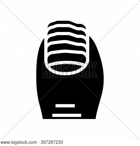 Nail Fungus Glyph Icon Vector. Nail Fungus Sign. Isolated Contour Symbol Black Illustration