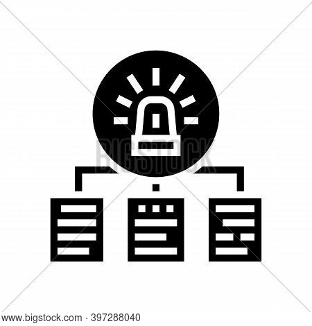 Documentation With Incidents Glyph Icon Vector. Documentation With Incidents Sign. Isolated Contour