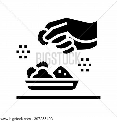 Flavoring Meal Glyph Icon Vector. Flavoring Meal Sign. Isolated Contour Symbol Black Illustration