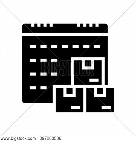 Date And Time Supply Glyph Icon Vector. Date And Time Supply Sign. Isolated Contour Symbol Black Ill