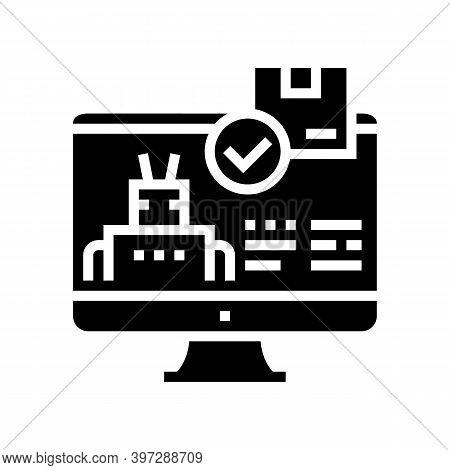 Automatical Order Acceptance Glyph Icon Vector. Automatical Order Acceptance Sign. Isolated Contour