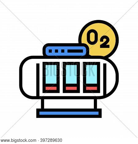 Oxygen Saturation Chamber Color Icon Vector. Oxygen Saturation Chamber Sign. Isolated Symbol Illustr