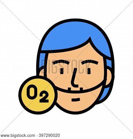 Human Breath Oxygen Tool Color Icon Vector. Human Breath Oxygen Tool Sign. Isolated Symbol Illustrat