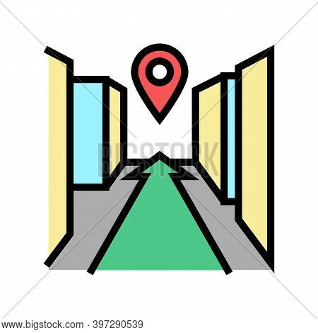 3d Navigation System Color Icon Vector. 3d Navigation System Sign. Isolated Symbol Illustration