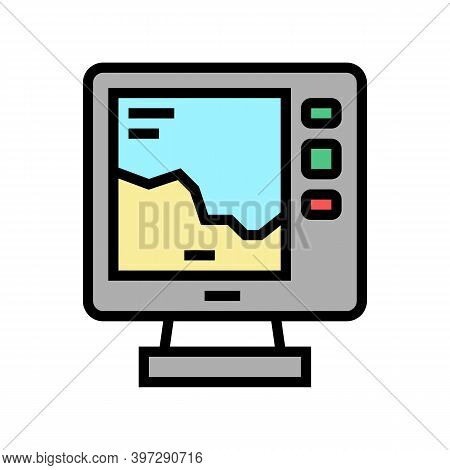 Boat Navigation Equipment Color Icon Vector. Boat Navigation Equipment Sign. Isolated Symbol Illustr