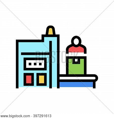Factory Manufacturing Equipment Color Icon Vector. Factory Manufacturing Equipment Sign. Isolated Sy